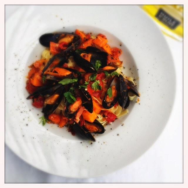 Pittige mosselen met pasta – Mijn mosselweek dag 5