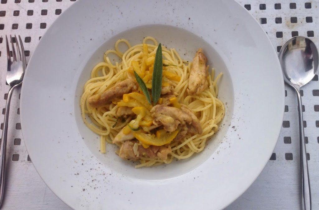 Salieboter voor over de pasta