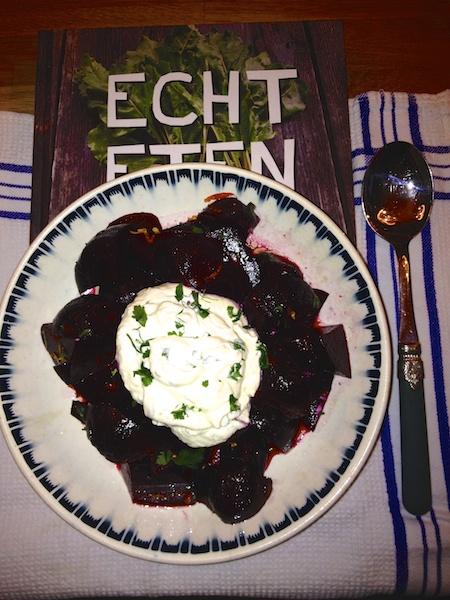 Biet met mierikswortel & crème fraîche – Kookboek van het Jaar 2013