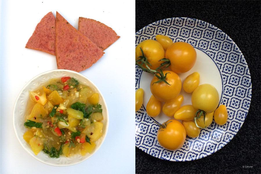 Gele tomatensalsa